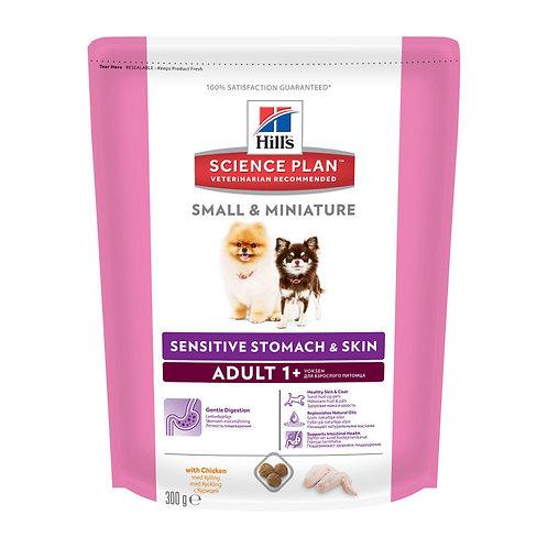 Hill's корм для взрослых собак Small & Miniature Sensitive Stomach 300 гр.