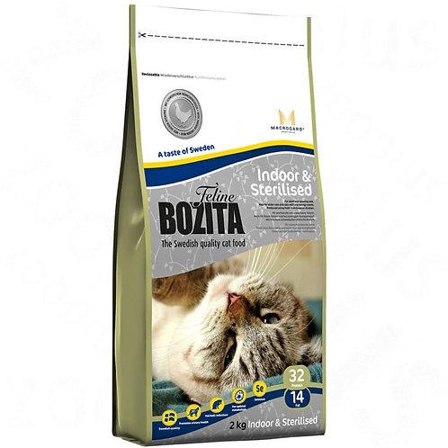 Bozita Feline Indoor & Steralised корм для стерилизованных кошек 2 кг.