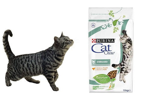 Kat Chaw Sterilized (Кэт Чау) корм для стерилизованных кошек 1,5 кг.