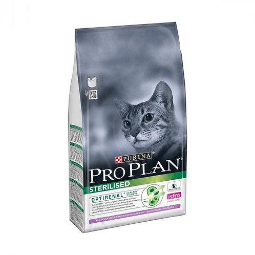 Pro Plan корм для стерилизованных кошек индейка 3 кг.