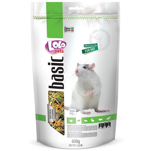 LoLo Pets basic корм для крыс 600 гр.