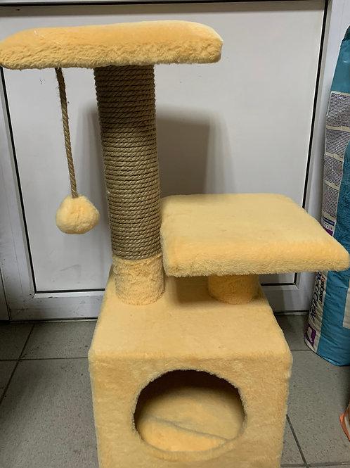 Домик-когтеточка для кошек 30*30*65 см.