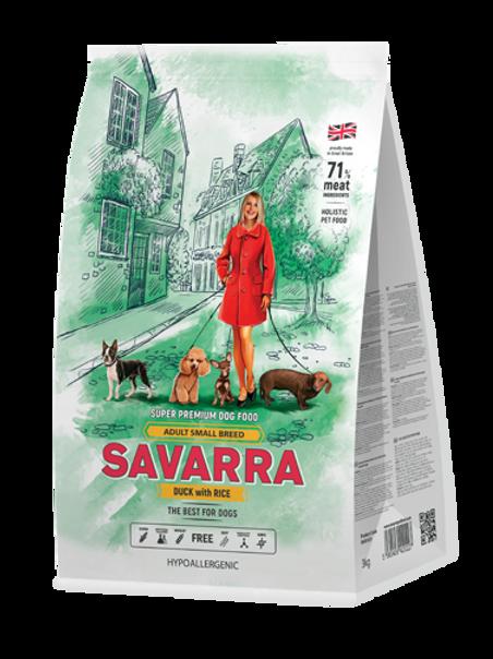 Savarra корм для собак мелких пород с уткой 1 кг.