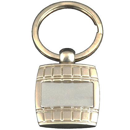 Mirrored Barrel Keychain
