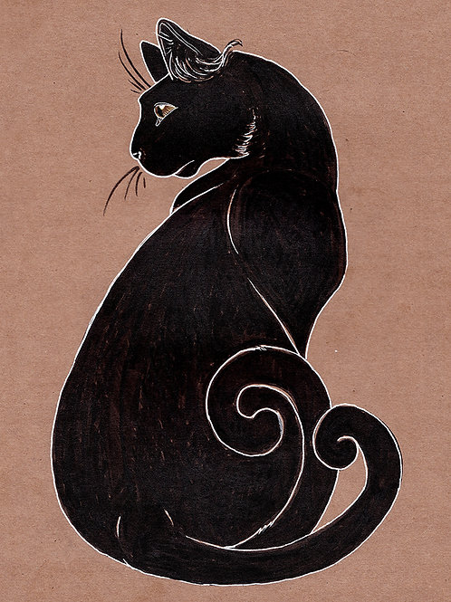 Bakeneko - Print - various sizes - $15 to $35