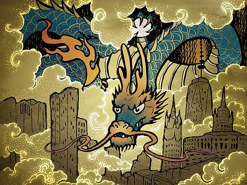 Smog Dragon - Print - various sizes - $15 to $35