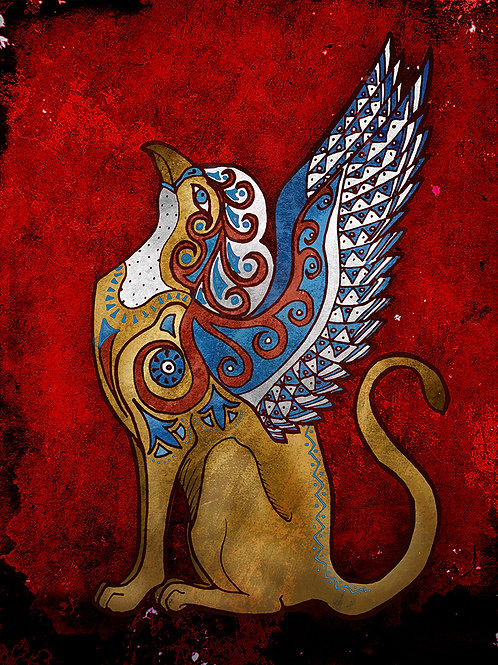 Minoan Griffin - Print - various sizes - $15 to $35