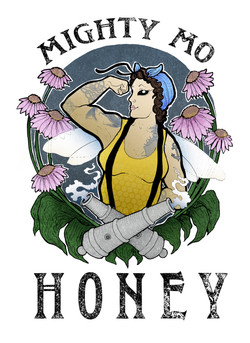 Mighty Mo Honey Logo