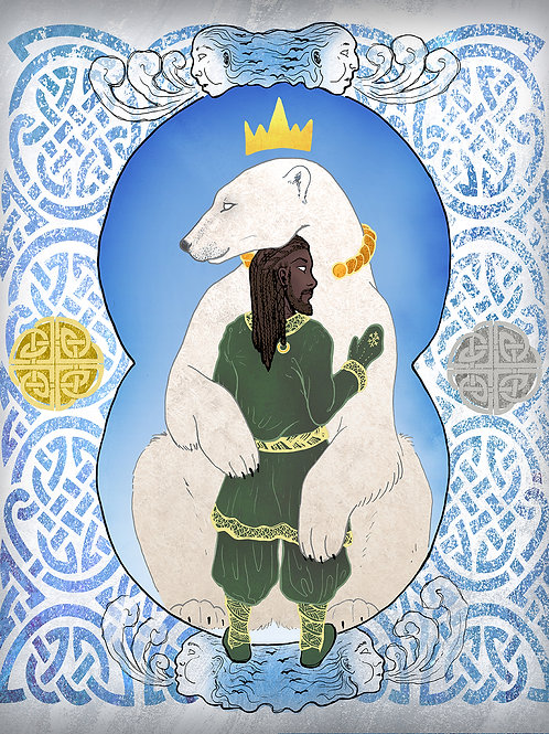 Polar Bear King - Print - various sizes - $15 to $35