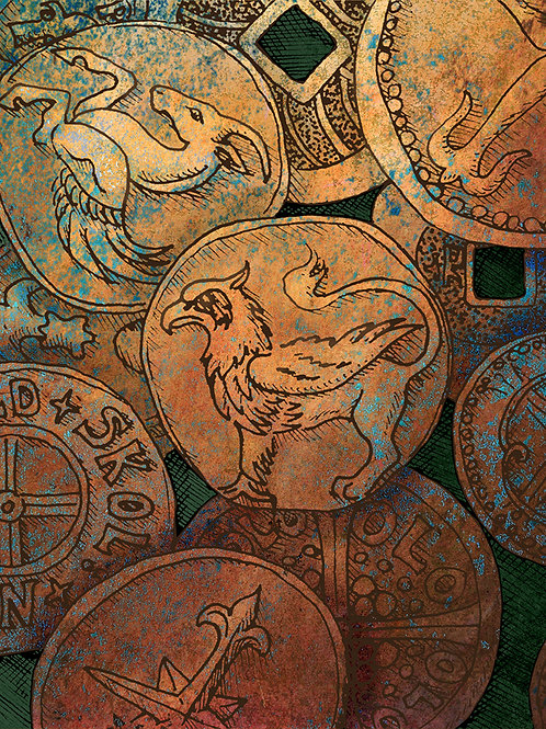Coins of the Realm - Print - various sizes - $15 to $35