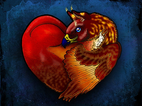 Griffin's Heart - Print - various sizes - $15 to $35