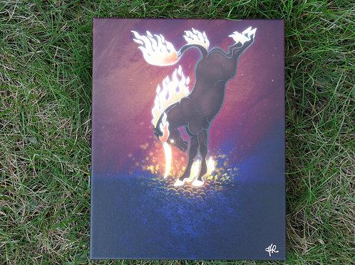 "Elementary Fire- 8""x10"" canvas print - $97"
