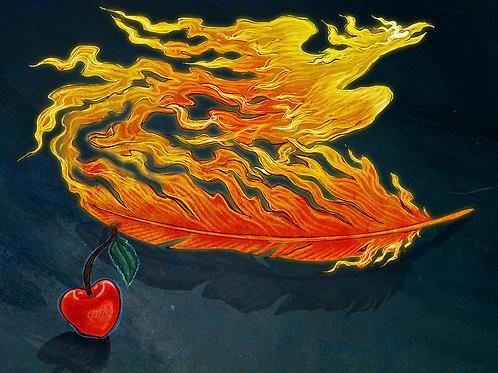 Firebird Feather - Print - various sizes - $15 to $35