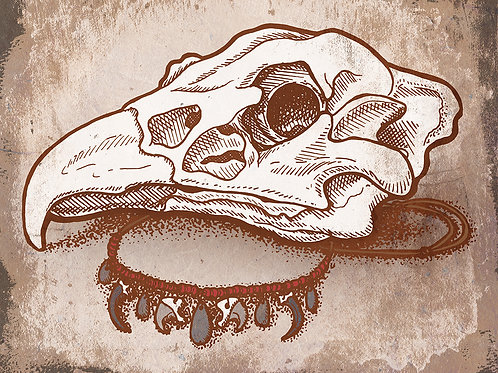 Griffin Skull - Print - various sizes - $15 to $35