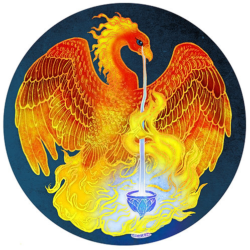 Phoenix and Chalice - Print - various sizes - $15 to $35