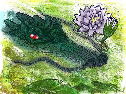 River Dragon - Print - various sizes - $15 to $35