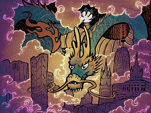 City Dragon - Print - various sizes - $15 to $35