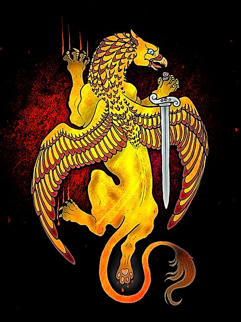 Golden Griffin - Print - various sizes - $15 to $35