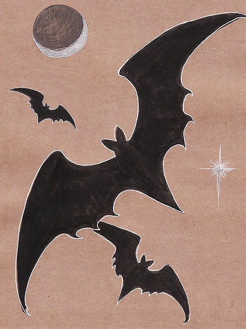 Night Flutters - Print - various sizes - $15 to $35