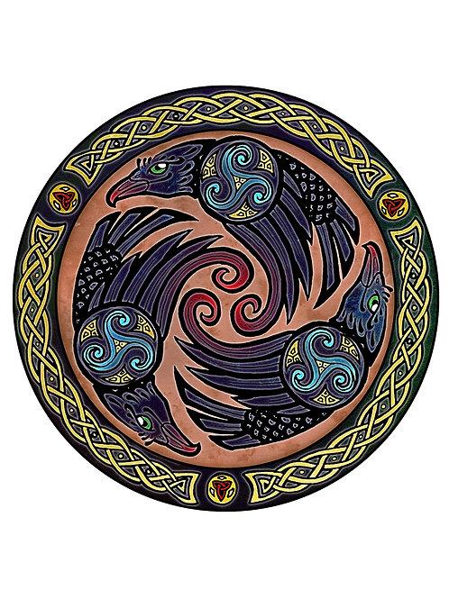 Celtic Ravens- Print - various sizes - $15 to $35
