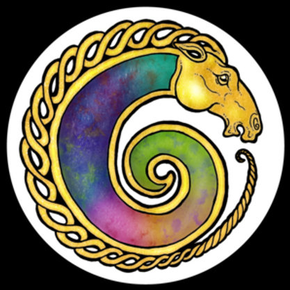 "Spiral Unicorn - 3""x3"" Vinyl Sticker - $5"