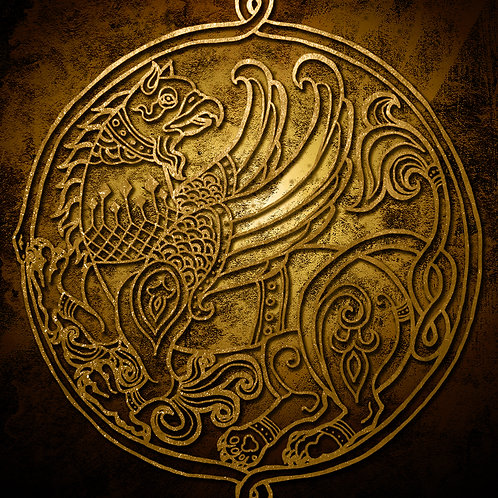 Byzantine Griffin - Print - various sizes - $15 to $35