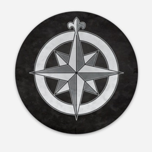 Compass Rose - Set of 5 Coasters - $14