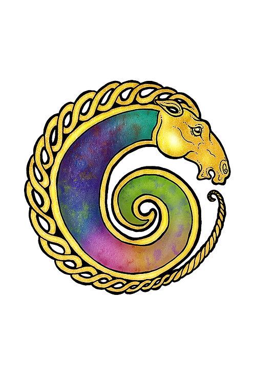 Unicorn Spiral - Print - various sizes - $15 to $35