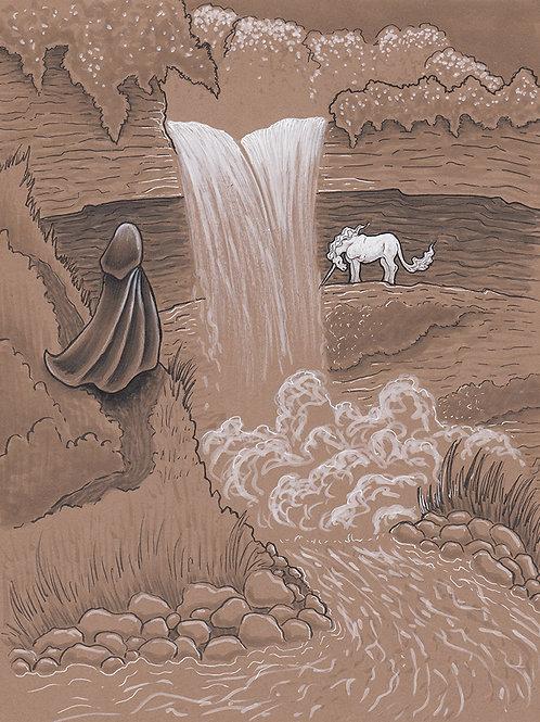 Unicorn of the Falls - Print - various sizes - $15 to $35
