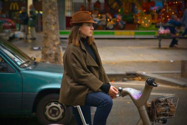 Girl on Bike, Paris