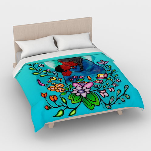 Duvet Cover (Queen) - Kookums Universe Woodlands