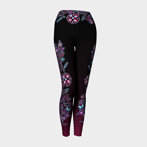 Floral Leggings - Lavender