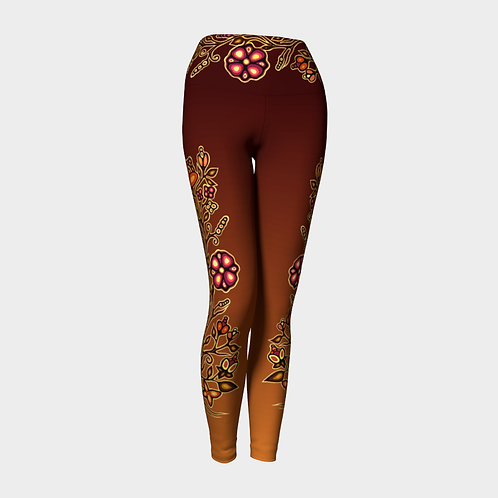 Floral Leggings - Copper