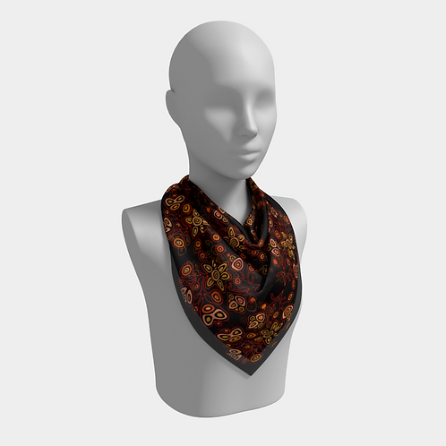 Ojibway Florals III - Silk Scarf