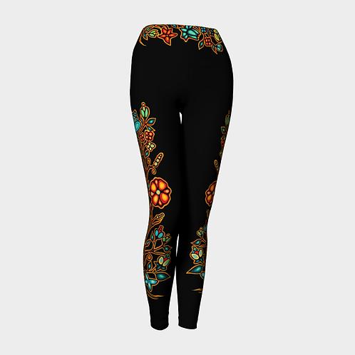 Floral Leggings - Black