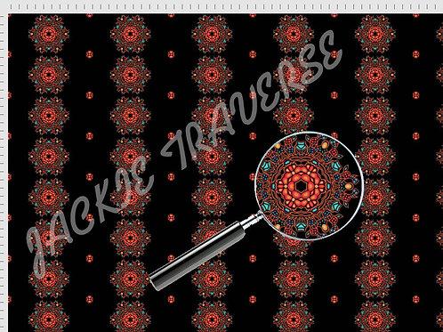 Ojibway Florals I - Organic cotton fabric