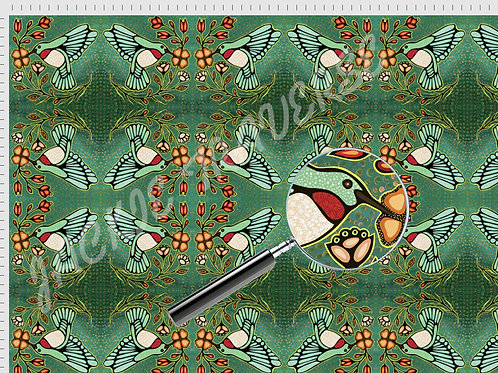 The Hummingbirds - Organic cotton fabric