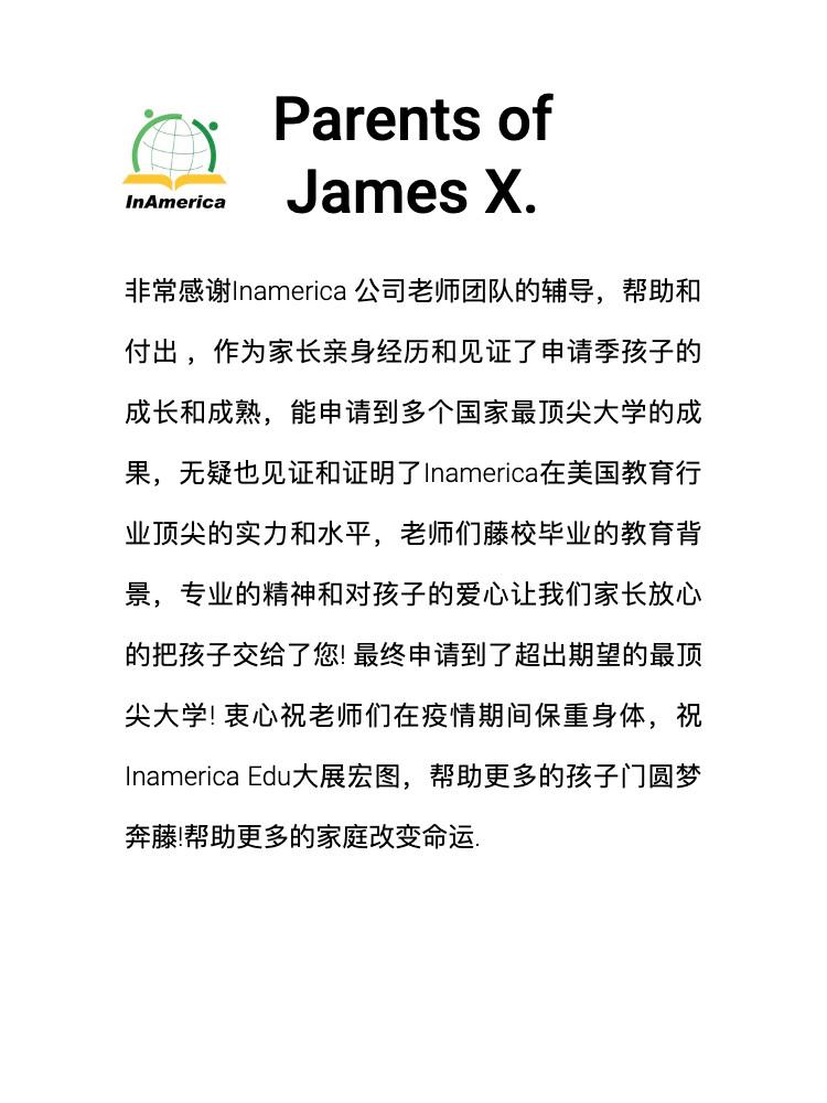 Parents of James