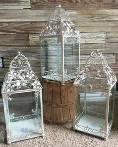 "19"" tall decorative shabby lanterns-"