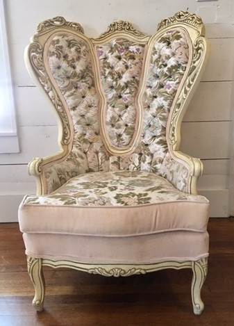"""Elizabeth"" Pink Floral Chairs"