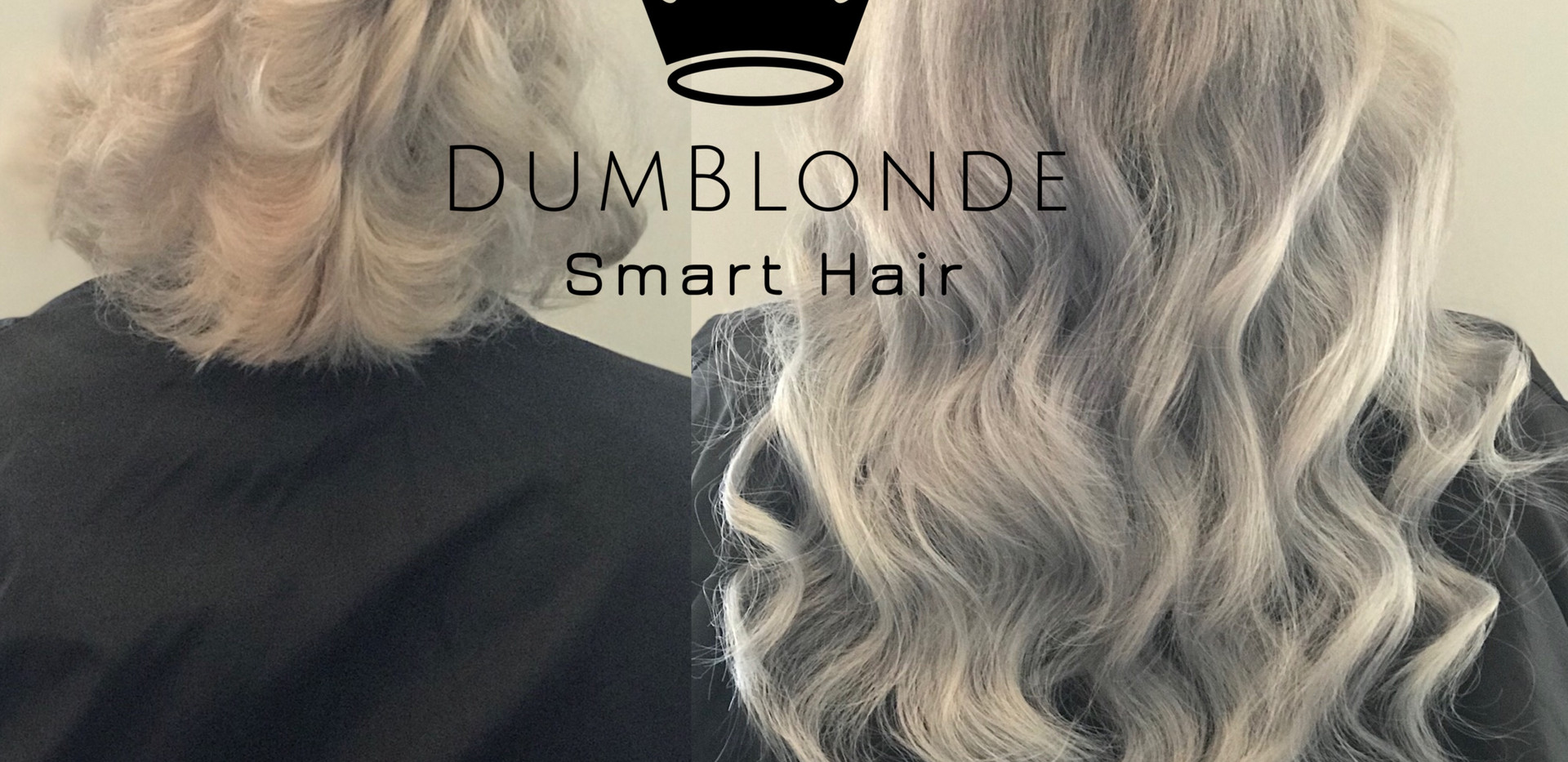 Before and After Silver Smart Hair Extensions