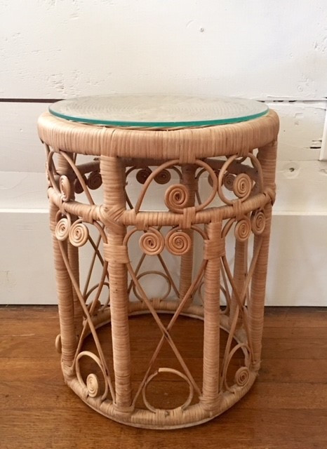 Small Wicker Side Table