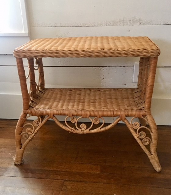 Rectangle Wicker Side Table