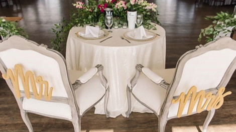 """Mariann"" White Queen Anne Chairs with Gray Trim"