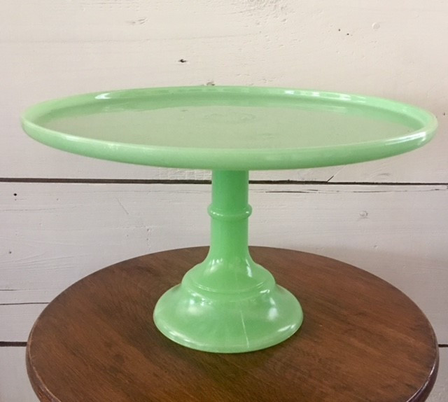 "12.5"" Green Glass Stand"