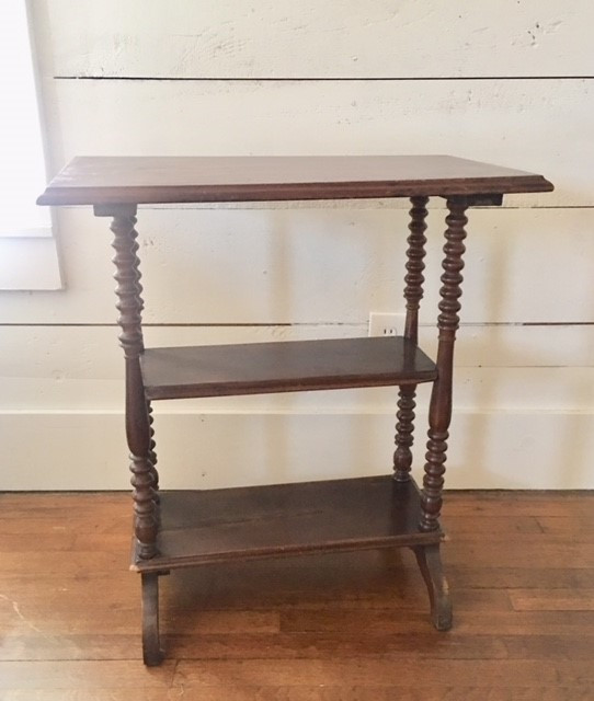 3 Tiered Spindle Leg Table