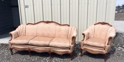 """""""Sapphire"""" Rose Gold Antique Sofa - $175.00"""