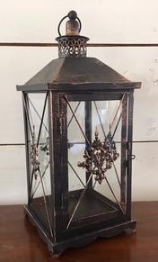 Black/Copper Lantern
