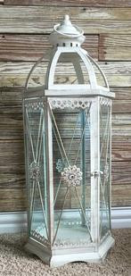 "26"" tall decorative shabby lantern"