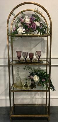 Brass & Glass Display Shelf